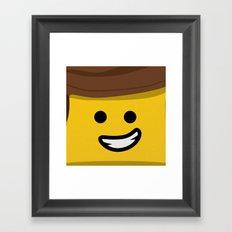 Brick Builder Framed Art Print