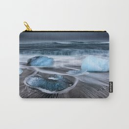 Ice on the Coast of Iceland Carry-All Pouch