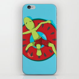 Watermelon chilling iPhone Skin