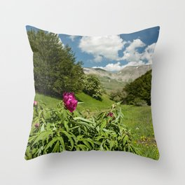 Peony of Castelluccio of Norcia, Italy Throw Pillow