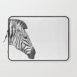 Black and White Zebra Profile Laptop Sleeve