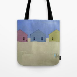 Beach Cottages, colorful houses, coastal, row houses Tote Bag