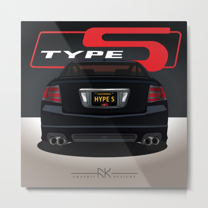 NHBP TL Type-S RED S Metal Print