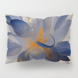 Midnight Blue Polka Dot Floral Abstract Pillow Sham