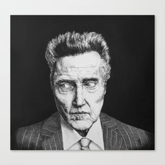 Portrait of Christopher Walken Canvas Print