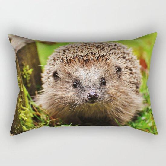 Cute Little Hedgehog Rectangular Pillow