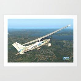 Pilot Proficiency Cessna 172 Art Print