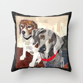 Sammy and Delilah Throw Pillow