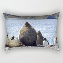 Fur Seal Resting Rectangular Pillow