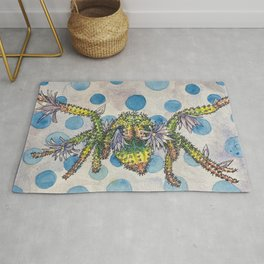 Jumping Spider Cactus Rug