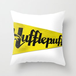 Hufflepuff 1948 Vintage Pennant Throw Pillow