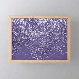 Sparkling ULTRA VIOLET Lady Glitter #1 #shiny #decor #art #society6 Framed Mini Art Print