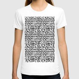 Los Angeles Beach Cities B&W T-shirt