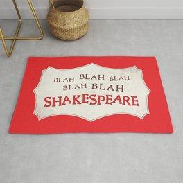 Blah Blah Blah Shakespeare Rug