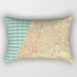 Tel Aviv Map Retro Rectangular Pillow