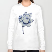 lotus flower Long Sleeve T-shirts featuring Lotus by Lily Sayang