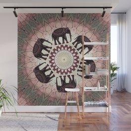 Boho Elephants Wall Mural