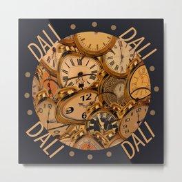 Dali Clocks Metal Print
