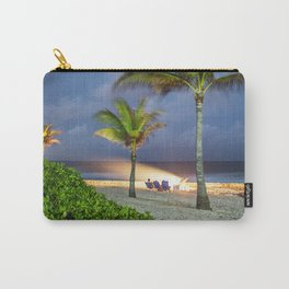 Beach fire in Cayman Islands Carry-All Pouch