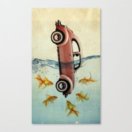 Bug and goldfish Canvas Print