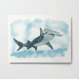Mark the Shark Metal Print