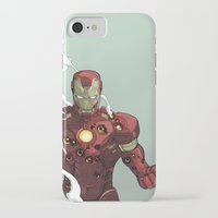 ironman iPhone & iPod Cases featuring Ironman by Dave Seguin