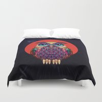 ali Duvet Covers featuring OWL 2 by Ali GULEC