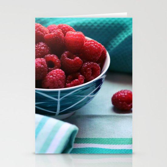 Ruby Delicious - Raspberry Still Life Stationery Cards