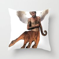 hydra Throw Pillows featuring HYDRA PAN by Michael Angelo Galasso