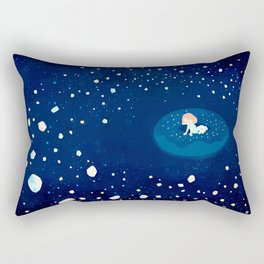 Cosmic Donuts Rectangular Pillow