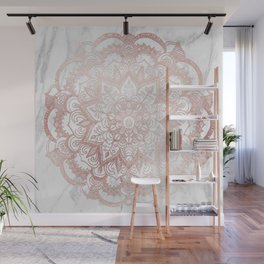 Rose Gold Mandala Star Wall Mural
