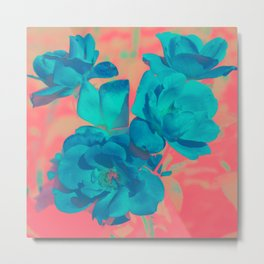 The Blue Rose Metal Print