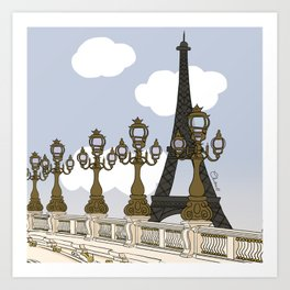 Paris, mon amour Art Print