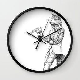 Gentleman Wolf Wall Clock