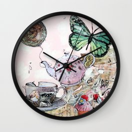 AFTERNOON - madewithunicorndust by Natasha Dahdaleh Wall Clock