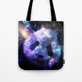 Galaxy Panda Planet Colorful Tote Bag