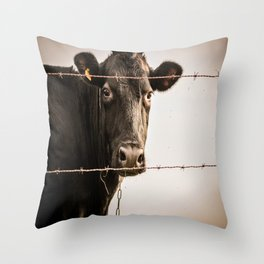 How Now, Brown Cow? Throw Pillow