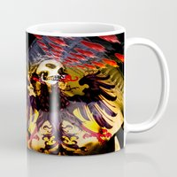 madonna Mugs featuring L'invasion Madonna by RIGOLEONART