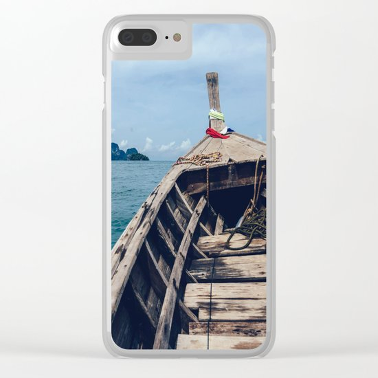 Pacific Boat Adventure Clear iPhone Case