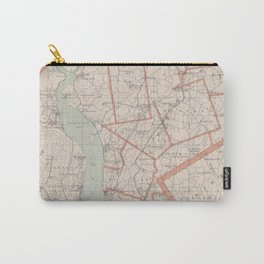 Vintage Map of Westchester County NY (1893) Carry-All Pouch
