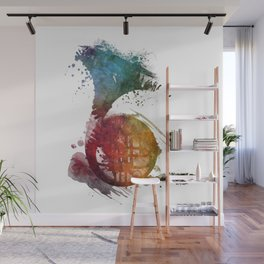 French horn Wall Mural