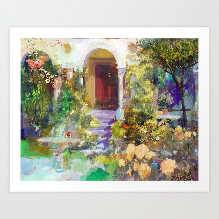 Spanish Garden Art Print