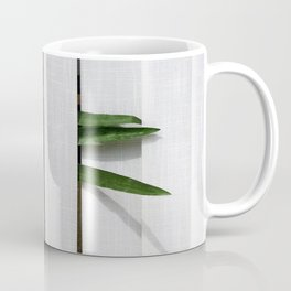 Green behind Coffee Mug