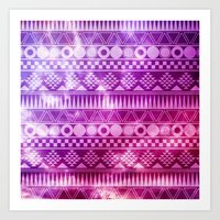 Tribal Fuschia.  Art Print