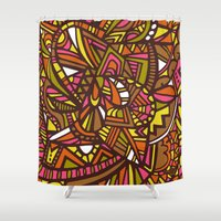 hippy Shower Curtains featuring Hippy Love by Lauren Taylor Creations
