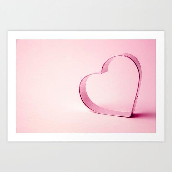 A Heart of Hope - Pink Art Print