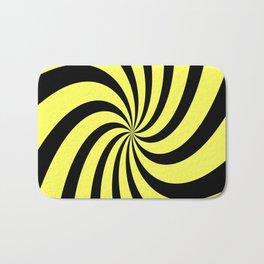 Spiral (Black & Yellow Pattern) Bath Mat