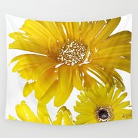 daisies Wall Tapestries featuring Daisies by Regan's World