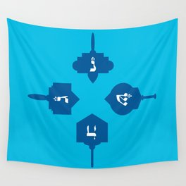 Dreidel in blue Wall Tapestry