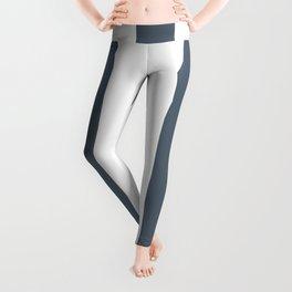 Black coral grey - solid color - white vertical lines pattern Leggings